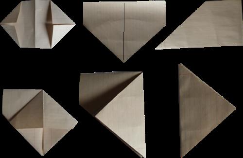 Как сделать из бумаги хлопушку схема