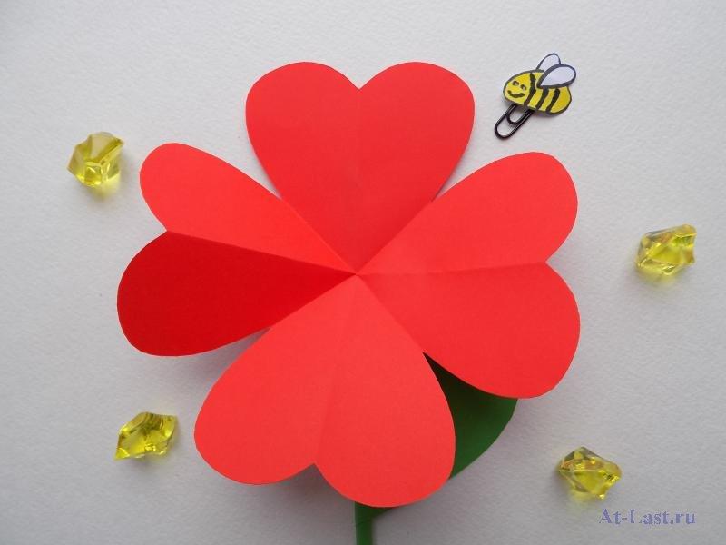 Как сделать цветочек на открытку