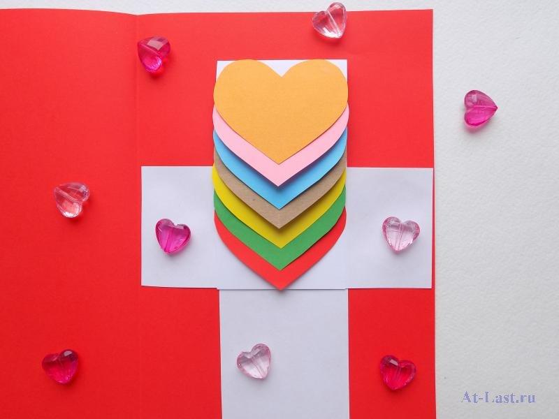 Открытка водопад из сердечек своими руками из бумаги, поросенка открытка